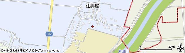 山形県鶴岡市辻興屋(丸沼)周辺の地図