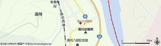 山形県東田川郡庄内町清川花崎23周辺の地図