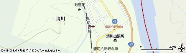 山形県東田川郡庄内町清川花崎142周辺の地図