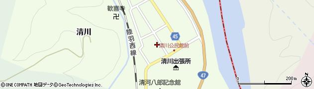 山形県東田川郡庄内町清川花崎27周辺の地図
