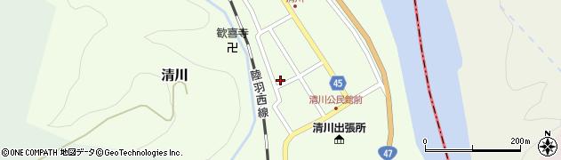 山形県東田川郡庄内町清川花崎135周辺の地図