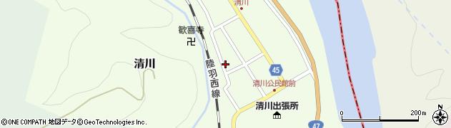 山形県東田川郡庄内町清川花崎133周辺の地図