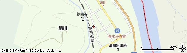 山形県東田川郡庄内町清川花崎156周辺の地図