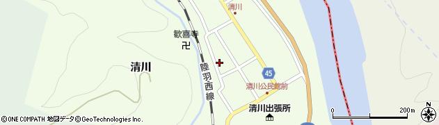 山形県東田川郡庄内町清川花崎129周辺の地図