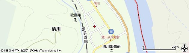 山形県東田川郡庄内町清川花崎103周辺の地図