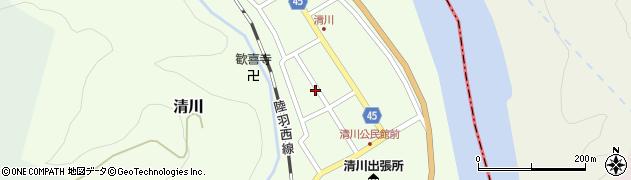 山形県東田川郡庄内町清川花崎105周辺の地図
