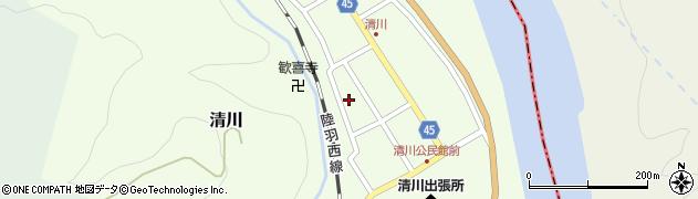 山形県東田川郡庄内町清川花崎128周辺の地図