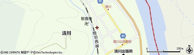 山形県東田川郡庄内町清川花崎159周辺の地図