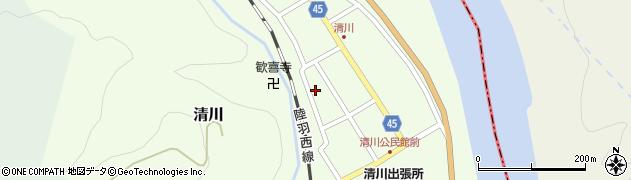 山形県東田川郡庄内町清川花崎126周辺の地図