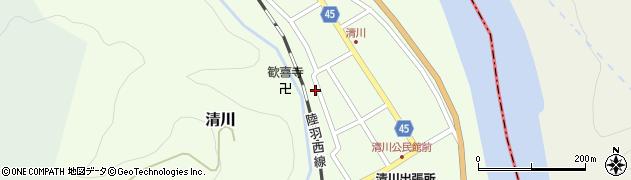 山形県東田川郡庄内町清川花崎160周辺の地図