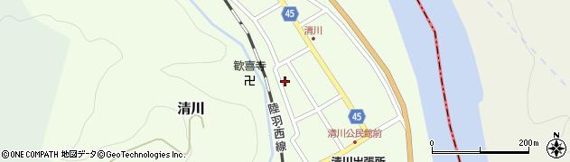 山形県東田川郡庄内町清川花崎125周辺の地図