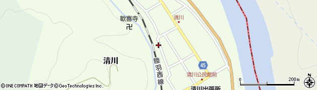 山形県東田川郡庄内町清川花崎161周辺の地図