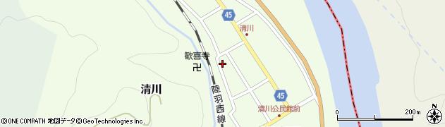 山形県東田川郡庄内町清川花崎124周辺の地図
