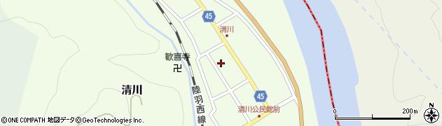 山形県東田川郡庄内町清川花崎111周辺の地図