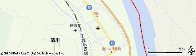 山形県東田川郡庄内町清川花崎92周辺の地図