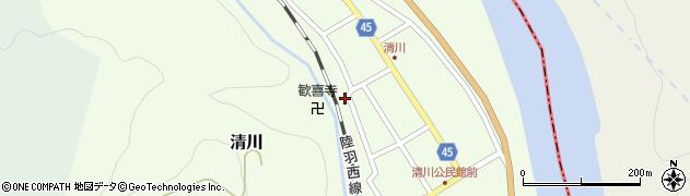 山形県東田川郡庄内町清川花崎163周辺の地図