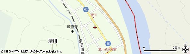 山形県東田川郡庄内町清川花崎91周辺の地図