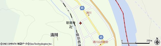 山形県東田川郡庄内町清川花崎121周辺の地図