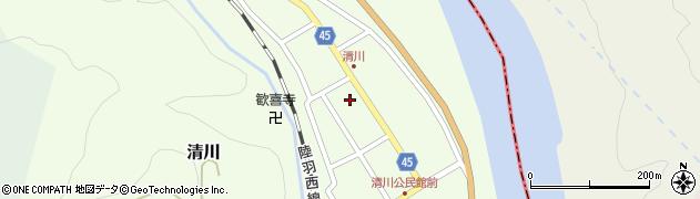 山形県東田川郡庄内町清川花崎88周辺の地図