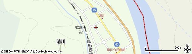 山形県東田川郡庄内町清川花崎114周辺の地図