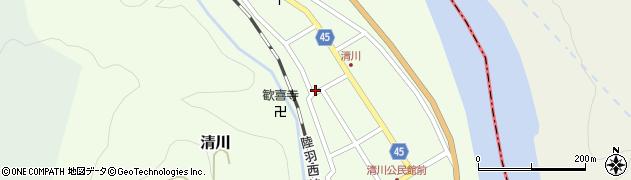 山形県東田川郡庄内町清川花崎120周辺の地図