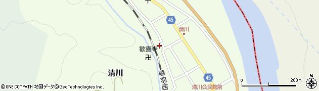 山形県東田川郡庄内町清川花崎168周辺の地図