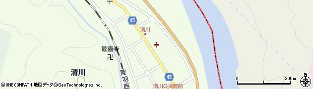 山形県東田川郡庄内町清川花崎90周辺の地図