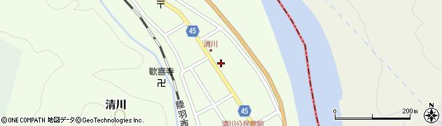 山形県東田川郡庄内町清川花崎89周辺の地図