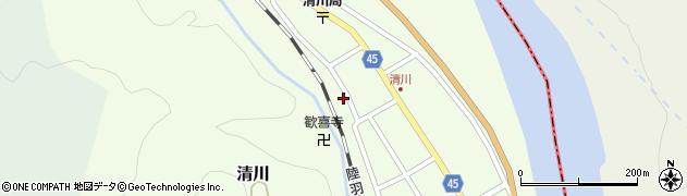 山形県東田川郡庄内町清川花崎169周辺の地図