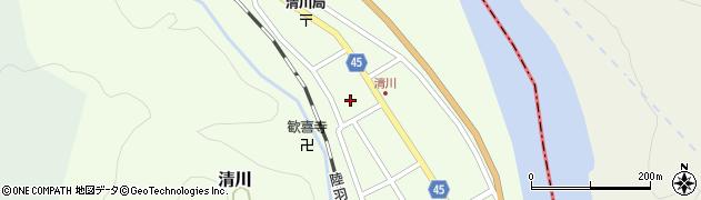 山形県東田川郡庄内町清川花崎75周辺の地図