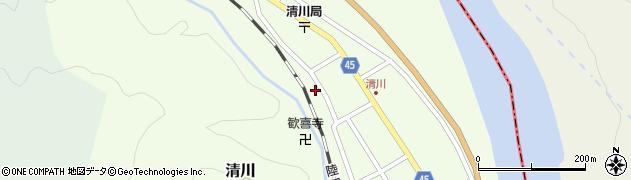 山形県東田川郡庄内町清川花崎171周辺の地図