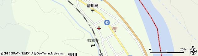 山形県東田川郡庄内町清川花崎172周辺の地図