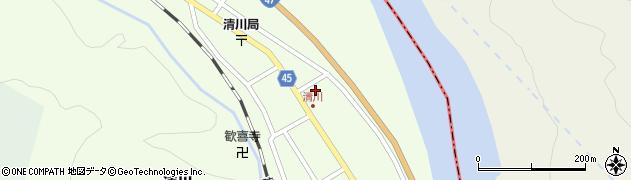 山形県東田川郡庄内町清川花崎71周辺の地図