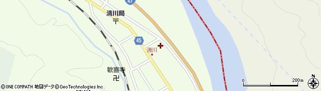 山形県東田川郡庄内町清川花崎68周辺の地図