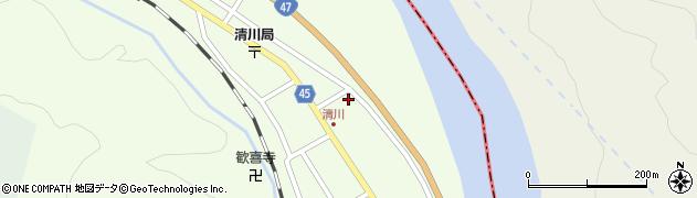 山形県東田川郡庄内町清川花崎69周辺の地図