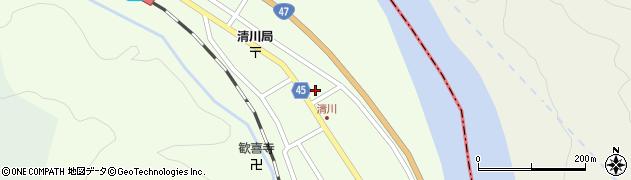 山形県東田川郡庄内町清川花崎185周辺の地図