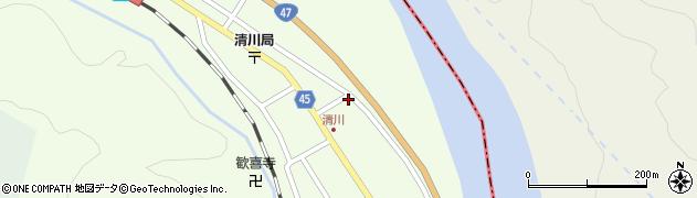 山形県東田川郡庄内町清川花崎70周辺の地図