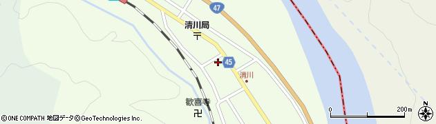 山形県東田川郡庄内町清川花崎174周辺の地図
