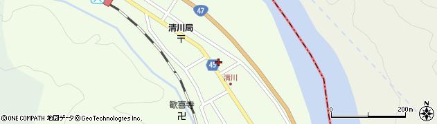 山形県東田川郡庄内町清川花崎186周辺の地図