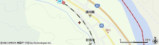 山形県東田川郡庄内町清川花崎223周辺の地図