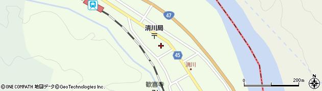 山形県東田川郡庄内町清川下川原19周辺の地図