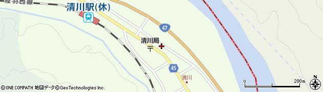 山形県東田川郡庄内町清川下川原20周辺の地図