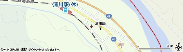 山形県東田川郡庄内町清川花崎212周辺の地図