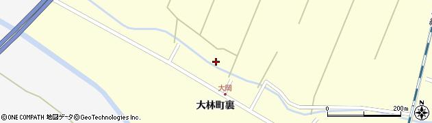 宮城県栗原市若柳大林堰合周辺の地図
