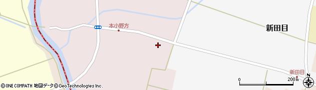 山形県東田川郡庄内町本小野方南割周辺の地図