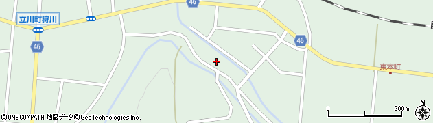 山形県東田川郡庄内町狩川山居48周辺の地図