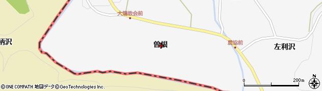 岩手県一関市藤沢町大籠曽根周辺の地図