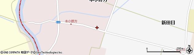 山形県東田川郡庄内町本小野方東割3周辺の地図