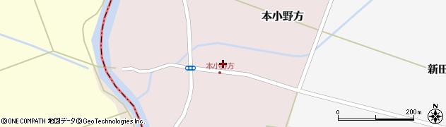 山形県東田川郡庄内町本小野方東割38周辺の地図