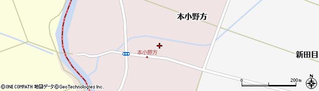 山形県東田川郡庄内町本小野方東割34周辺の地図